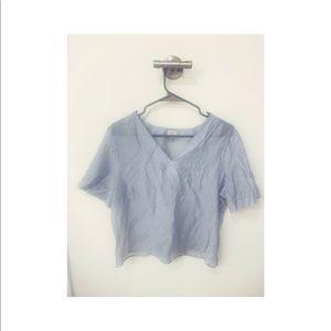 Pin stripe sheer blouse